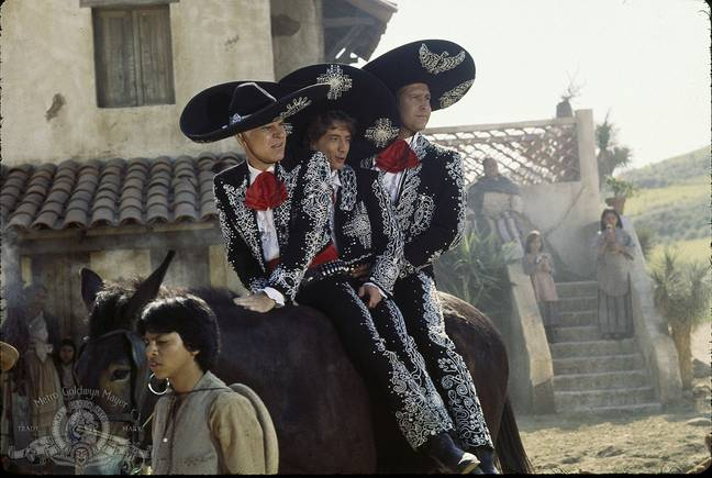 The original Three Amigos saw three movie stars mistaken for real heroes. Credit: Orion Pictures