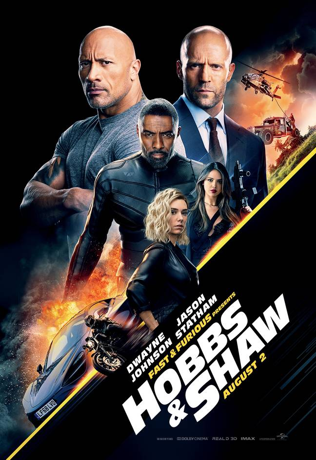 Hobbs and Shaw is a spin-off from the Fast franchise and came out in 2019 ' Credit: IMDb