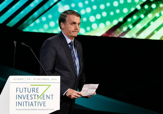 President Bolsonaro has been widely condemned for his stance on climate change and deforestation. Credit: PA