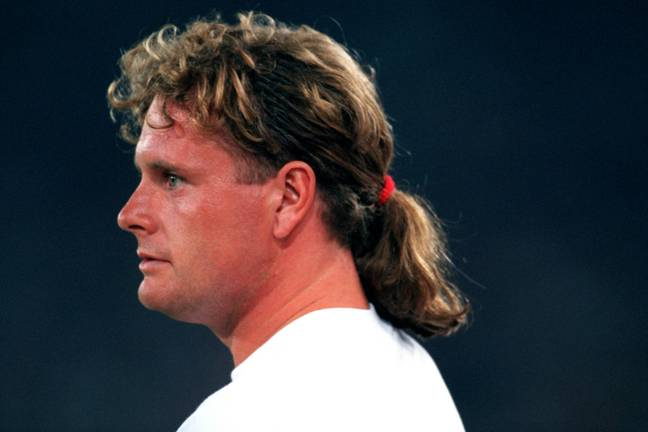 It's a no to Gazza with that barnet, too. Credit: PA