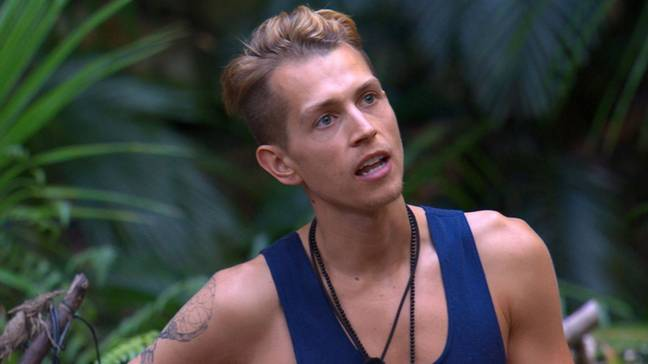 James McVey while he was on I'm A Celebrity... Get Me Out Of Here! Credit: ITV/I'm A Celebrity
