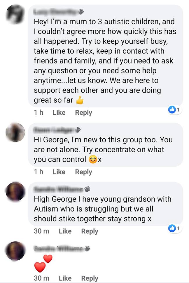 He was soon showered with support and advice. Credit: Facebook