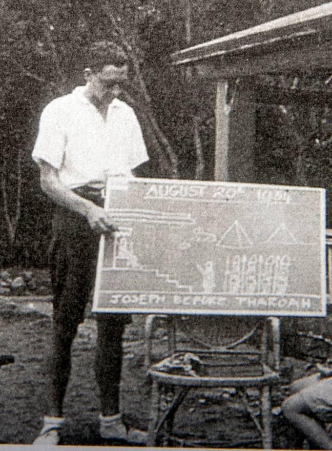 Mr Weighton teaching in 1934. Credit: PA