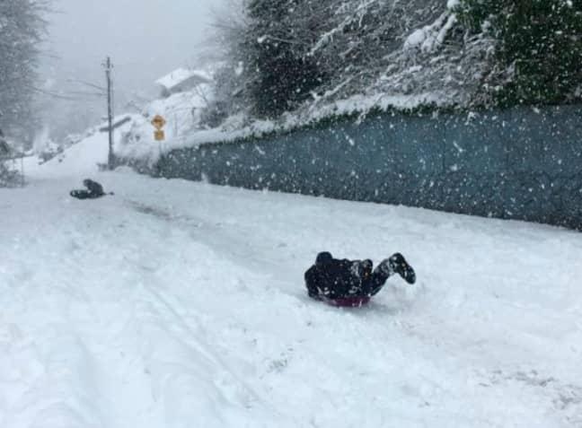 Snowfall in Washington. Credit: PA