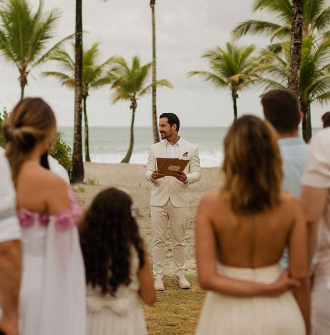 Diogo tied the knot with himself. Credit: Newsflash