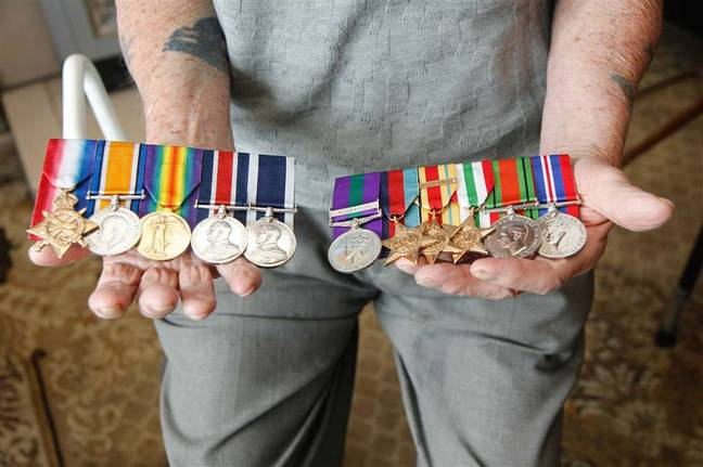 The stolen medals. Credit: SWNS