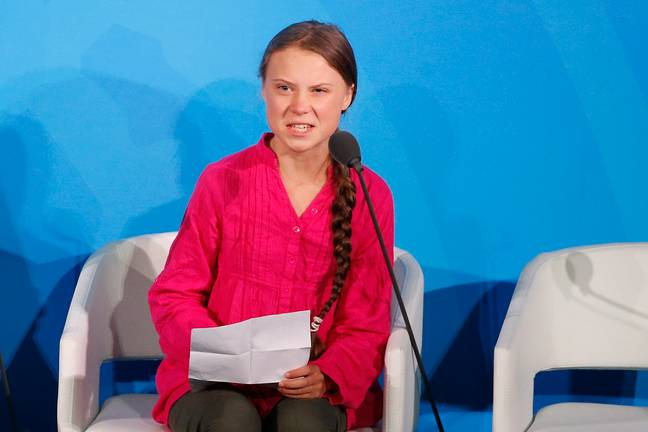 Greta speaking at a UN conference last week. Credit: PA