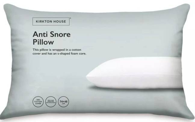 Aldi's anti snore pillow could help partners of night growlers get a better sleep. Credit: Aldi