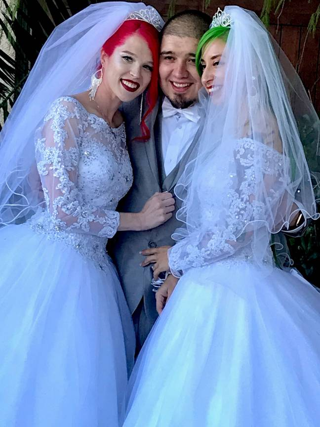 The throuple are now married. Credit: MDW