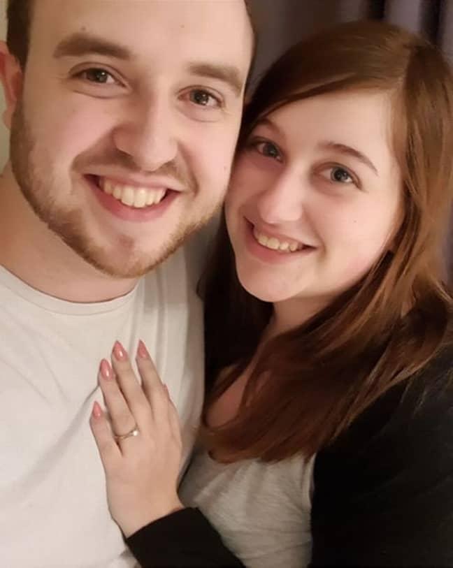 Adam Eaglefield and Rebecca Woodall. Credit: Domino's