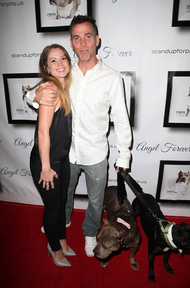 Steve-O with partner Lux Wright. Credit: PA