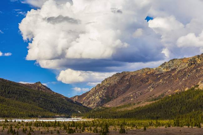 The Teklanika River in Denali National Park, Alaska, US. Credit: PA