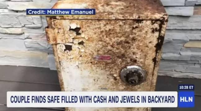 The safe found in Staten Island, New York. Credit: CNN