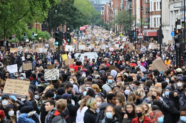 Protestors in London. Credit: PA