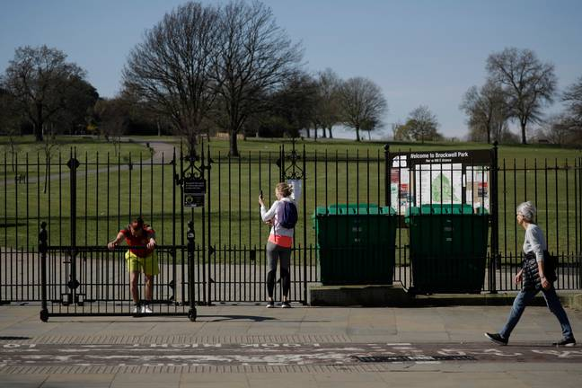 Also on Saturday Brockwell Park was closed. Credit: PA