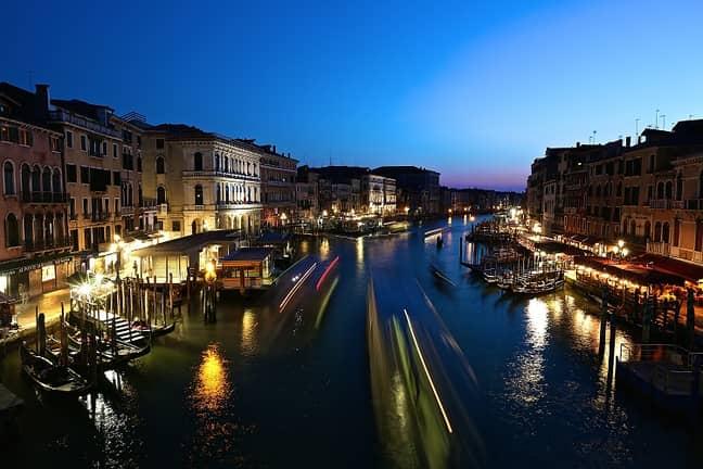 Venice by night. Credit: PA
