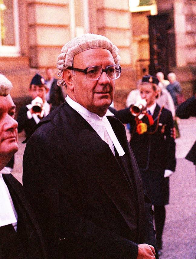 Sir Richard Henriques at the trial of Harold Shipman in 1998. Credit: Shutterstock
