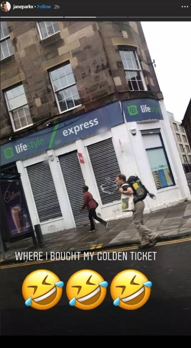 Jane Park bought her 'golden ticket' here. Credit: JaneParkx/Instagram