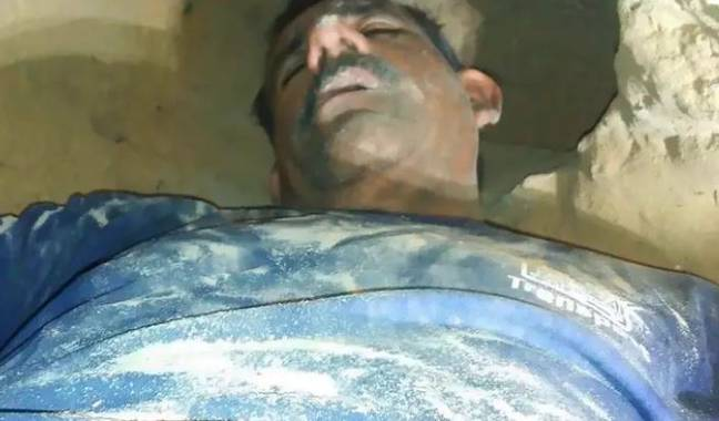 Cesar Arnoldo Gomez had to be rescued from a tunnel he had built to spy on his ex. Credit: CEN