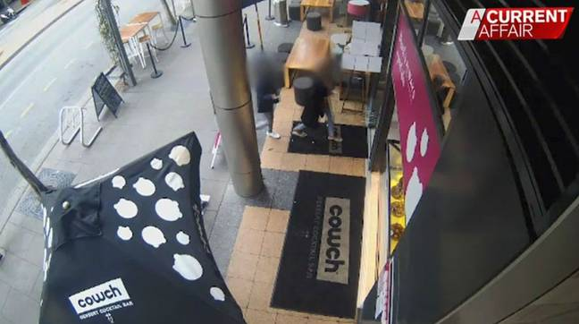 CCTV footage at Cowch Bar shows Olivia Muranga entering the premises. Credit: A Current Affair/Nine News