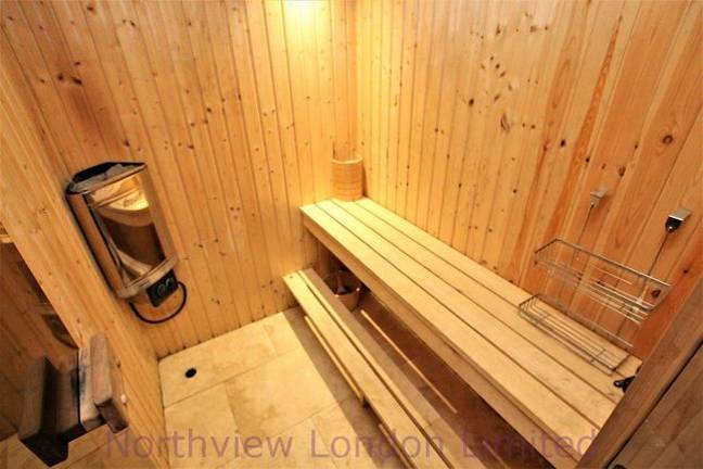 Don't forget there's a sauna too. Credit: Zoopla
