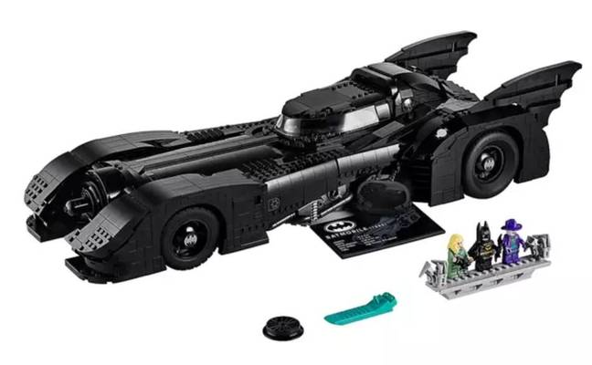 Michael Keaton's Batmobile is also available. Credit: LEGO