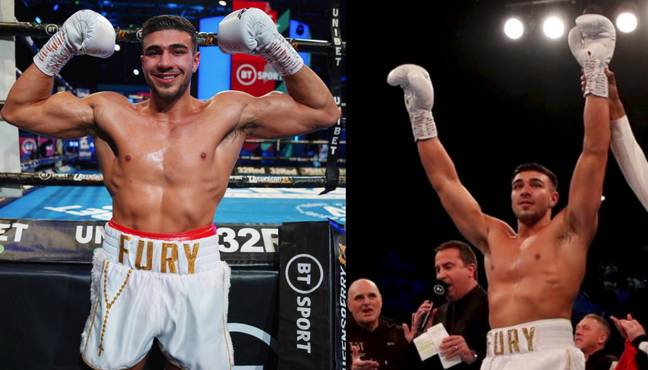 Tommy Fury is a light heavyweight champion (Credit: Twitter/tommytntfury)