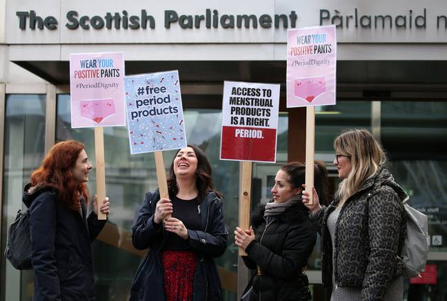 Scotland is a step closer to providing free sanitary products for all women. Credit: PA