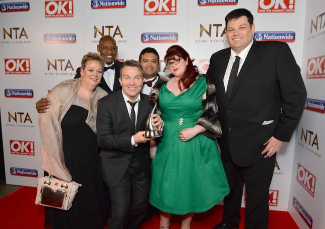 Bradley Walsh and the Chasers in 2016. Credit: PA