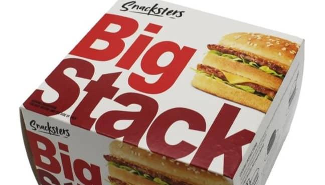 Aldi's Big Stack burger is just like the McDonald's Big Mac ' Credit: Aldi