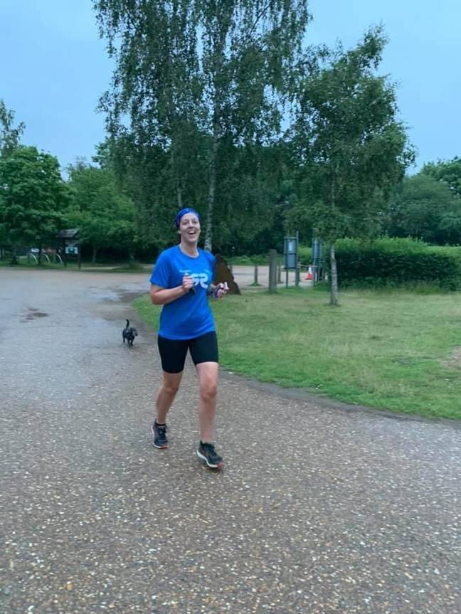 Emily is even back out running. Credit: PA Real Life