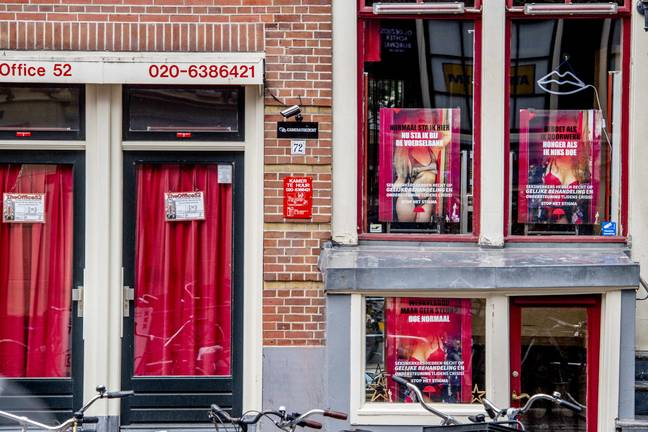 The world famous red light district in Amsterdam is due to reopen for business on Wednesday. Credit: PA