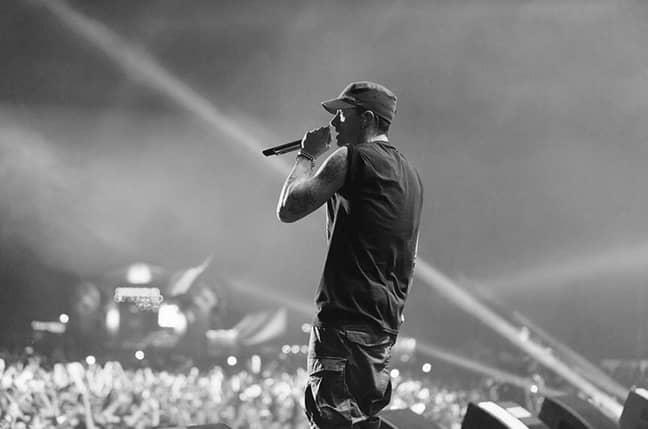 Eminem on his South American tour in 2016 (Credit: Instagram/eminem)