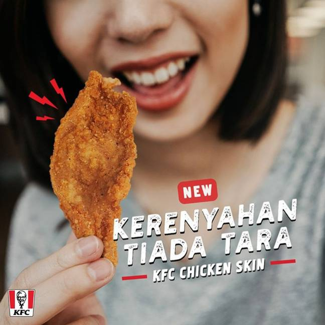 Just like pork crackling, but with chicken. Credit: KFC