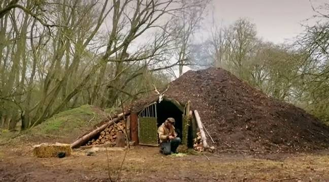 The 'giant molehill' Will calls home. Credit: Channel 5