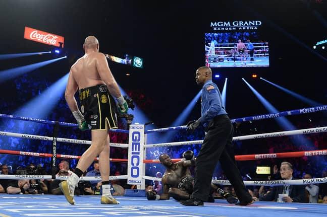 Fury put Wilder down twice. Image: PA Images