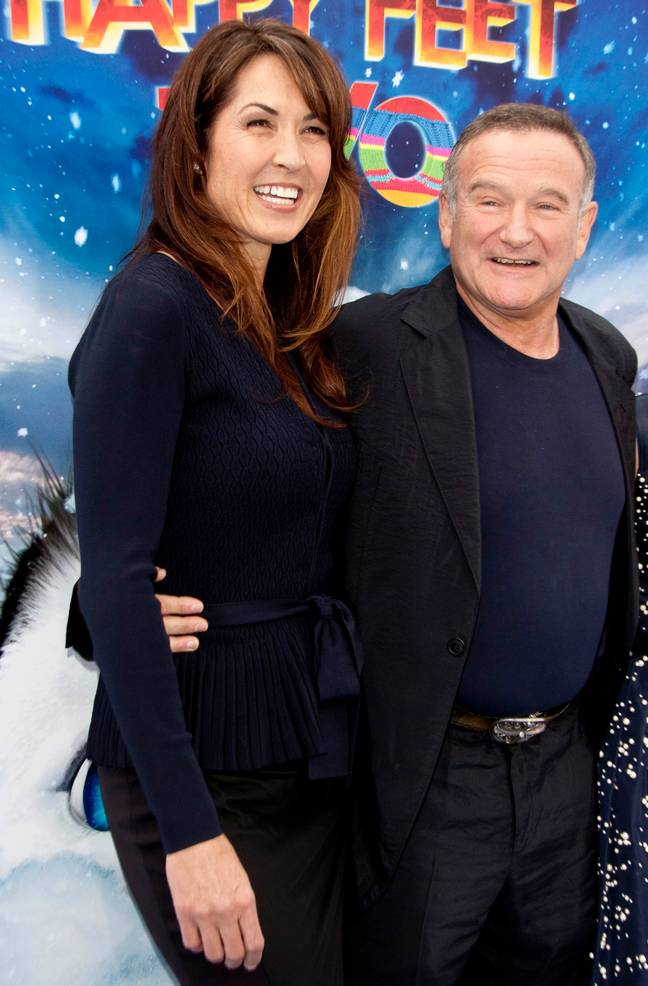 Robin Williams with wife, Susan. Credit: PA