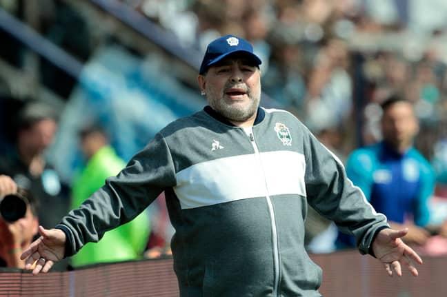 Maradona. Credit: PA