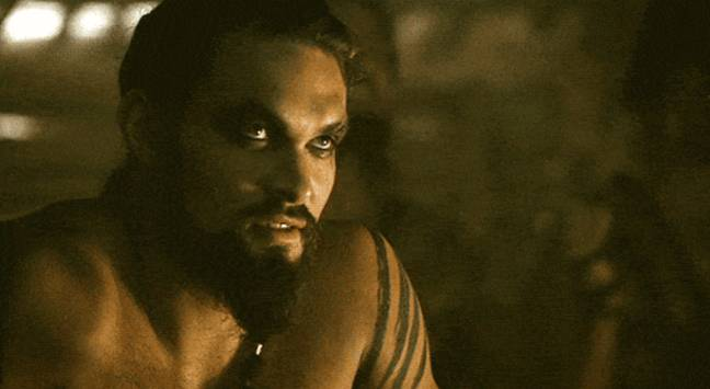 Jason Momoa as Khal Drogo in Game of Thrones
