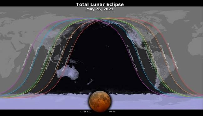 How to see the blood orange moon 2021 (Credit: NASA)