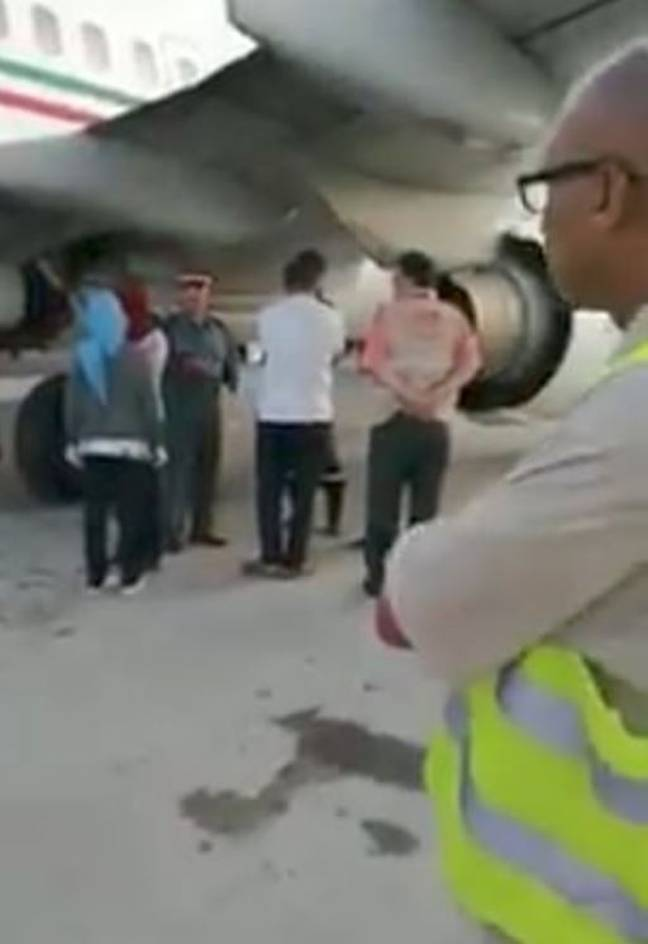 Connecting passengers were only told about the tragic incident once they had landed in Paris. Credit: Streamable