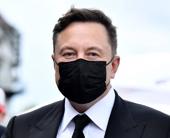 Musk obviously isn't actually an alien... right? Credit: PA