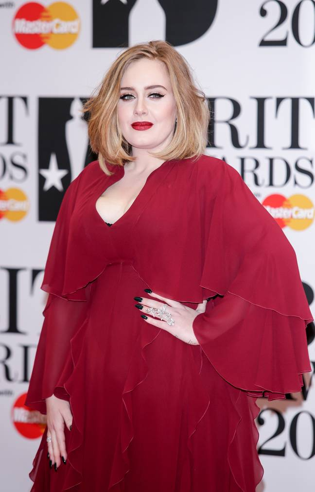 Adele back in 2016 at the BRIT awards. Credit: PA