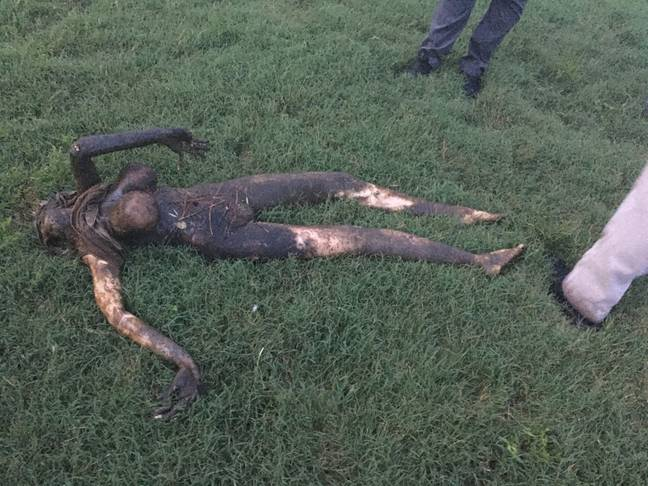 The 'corpse' turned out to be a hyper-realistic sex doll. Credit: Kennedy News and Media
