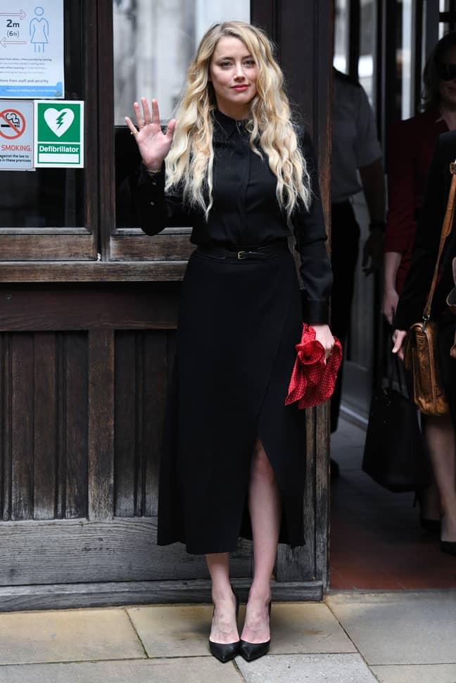 Amber Heard. Credit: PA