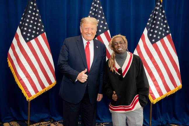 Lil Wayne tweeted a picture of himself with Donald Trump prior to the November election. Credit: Twitter/Lil Wayne