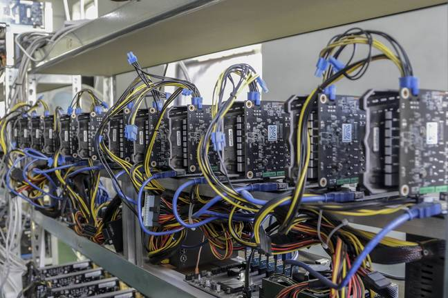 Cryptocurrency is legal mined by incredibly high-spec machines, or through the cloud. Credit: PA