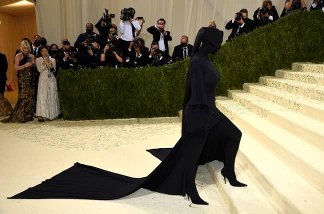Kim Kardashian's all-black Balenciaga outfit caused quite the stir amongst fans. Credit: PA