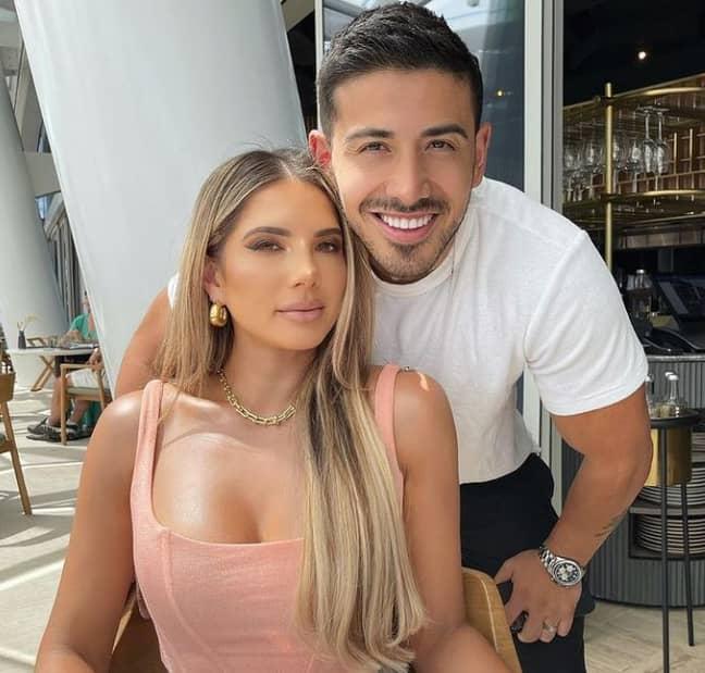 Amy with her husband Jono. Credit: Instagram/amycastano