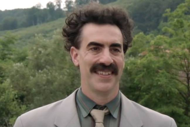 The Borat sequel is available to watch on Amazon Prime. Credit: Amazon